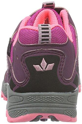 Lico Fremont V, Zapatos de Low Rise Senderismo para Niñas Rojo (Bordeaux/rosa)