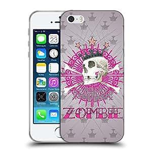 Super Galaxy Coque de Protection TPU Silicone Case pour // V00000468 Cráneo del zombi // Apple iPhone 5 5S 5G SE