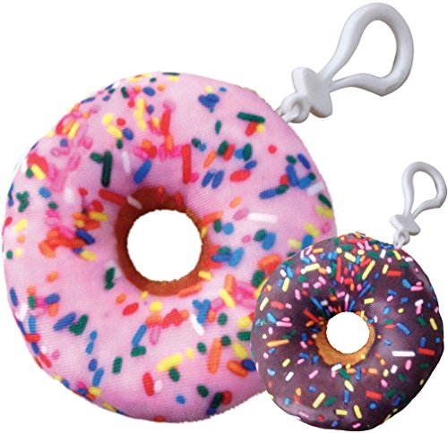iscream Pink/Chocolate Donut Mini Microbead Pillow Backpack Charm ()