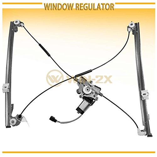 WIN-2X New 1pc Front Passenger Right Side Power Window Regulator With Motor Assembly Fit 96-00 Chrysler Town & Country 00 Voyager 96-00 Dodge Caravan/Grand Caravan Plymouth Voyager/Grand (Plymouth Grand Voyager Door)