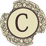 Thirstystone Monogram C Car Cup Holder Coaster, 2-Pack