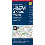 AA01- Road Map West Country & South Wales (Road Map Britain)