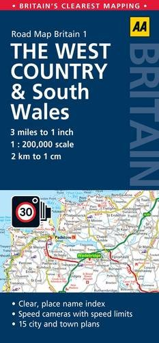 AA Road Map Britain The West Country & South Wales