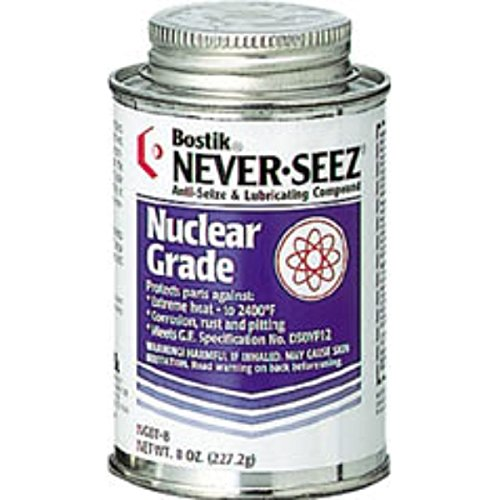 Never-Seez NGBT-8 Silver Gray Nuclear Grade Nickel Special Anti-Seize Compound, 8 fl. oz. Brush Top Can