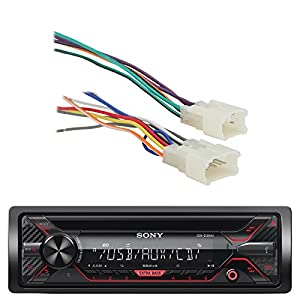 amazon com sony cdx g1200u 55w am fm cd mp3 receiver with enhanced rh amazon com Dual Car Stereo Wire Harness Car Audio Wire Harness