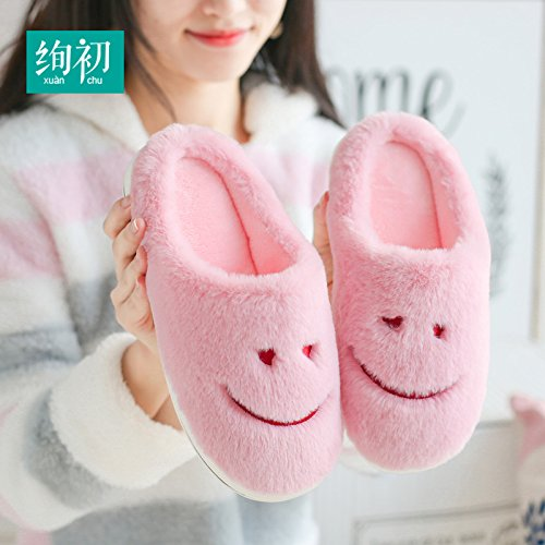 Les hommes et femmes dhiver de coton pantoufles home intérieur dépaisseur de la moitié à la maison avec des couples thermiques plus moelleux en velours chaussures sur une ,41-42 code (aussi longtemp