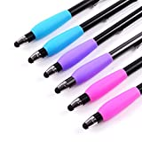The Friendly Swede 6-pack, Stylus Silicon Grips for Better Comfort and Ergonomic Grip (Mix Color)