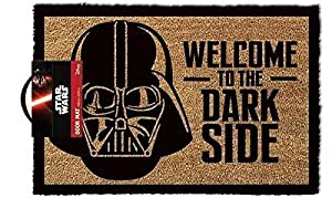 "Star Wars ""welcome To The Dark Side"" Floor Mat, Coconut Fiber, Brown, 61.0 x"
