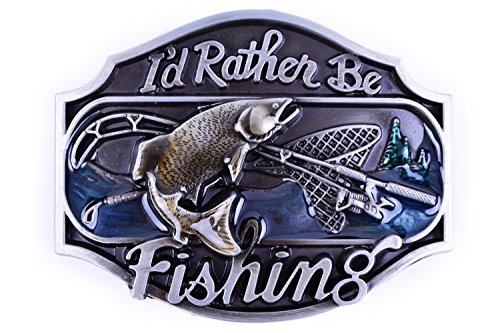 I'd Rather be Fishing Design Cowgirl Belt Buckles