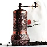 Turkish Grinder, Spice Grinder, Salt Grinder, Pepper Mill 4.2'' (Antique Copper)