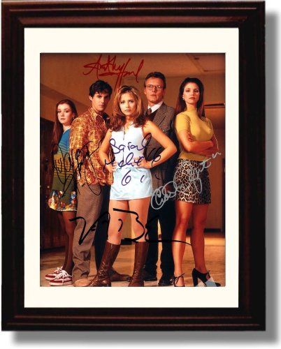 Framed Buffy The Vampire Slayer Autograph Replica Print - Buffy The Vampire Slayer Cast