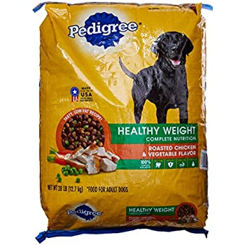 PEDIGREE Healthy Weight Roasted Chicken & Vegetable Flavor Dry Dog Food; 100% Complete and Balanced, for wellness and whole body health