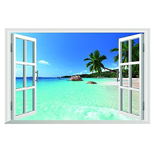 Wintop Tropical Removable Television Background product image