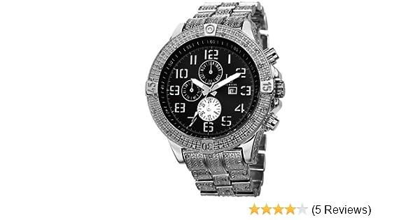 Amazon.com: Joshua & Sons Heavy Mens JS78 Swiss Quartz Multifunction Bracelet Watch -Polished Unidirectional Rotating Divers Bezel with Engraved Arabic ...