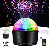 Disco Ball Lights,Exulight Bluetooth Speaker Strobe Party Lights,USB Powered Night Lamp,9 Colors Sound Activated LED Stage Light with Remote Control for Kid Bedroom Christmas Gift