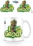 Marvel Comics Mug en céramique Les Gardiens de la Galaxie, Volume 2 avec l'inscription I Am Groot, Multicolore