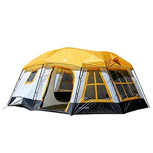 Tahoe Gear Ozark 16-Person 3-Season Cabin Tent, Orange | TGT-OZARK-16-B