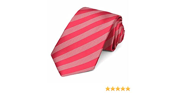 TieMart Guava Formal Striped Bow Tie
