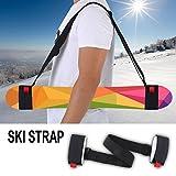 Ski Carrier Strap Adjustable Pole Snowboard Shoulder Carrier Lash Handle Straps Holder for Snowboarding Downhill Skiing