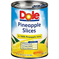 Dole Pineapple in Juice Slices - 20 oz
