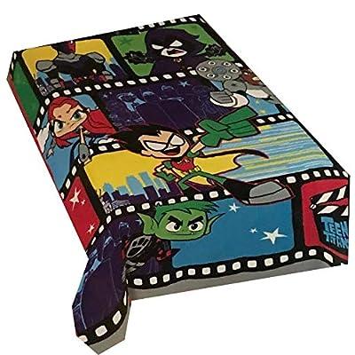 "Franco DC Comics Teen Titans Blanket Oversized Throw 62"" x 90"": Home & Kitchen"