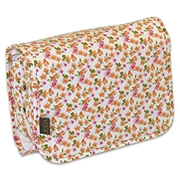 d863ab735cbb JODA Ladies White with Pink   Orange Flower Compact Hanging Travel Toiletry  Cosmetic Wash Bag 120-171  Amazon.co.uk  Beauty