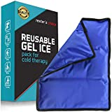 Gel Cold & Hot Pack (2 Pack)– 11x14 in. Reusable Warm or Ice Packs for Injuries, Hip, Shoulder, Knee, Back Pain – Hot & Cold Compress for Swelling, Bruises, Surgery – Heat & Cold Therapy