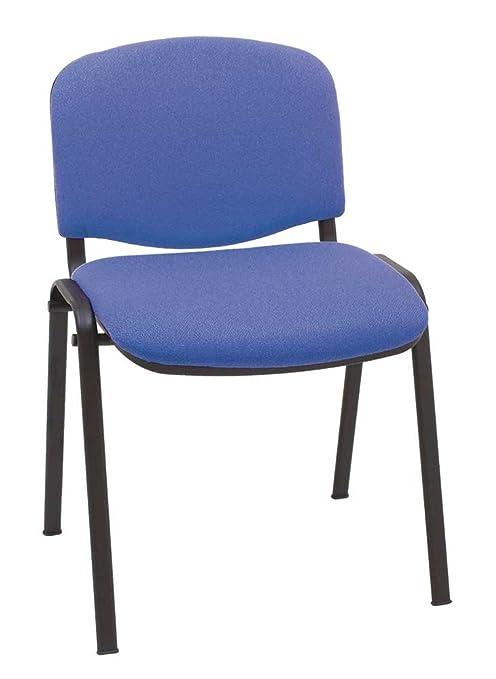 Silla Express ISO Silla Confidente Tapizada, Acero, Azul, 55x53x79 cm