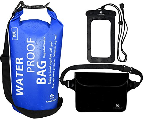 Waterproof-Dry-Bags-Set-Of-3-By-Freegrace-Dry-Bag-With-2-Zip-Lock-Seals-Detachable-Shoulder-Strap-Waist-Pouch-Phone-Case-Can-Be-Submerged-Into-Water-For-Swimming