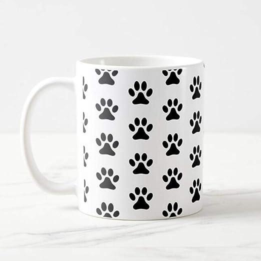 Taza de café con estampado de patas de gato Kawaii caliente Taza ...