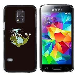 Be Good Phone Accessory // Dura Cáscara cubierta Protectora Caso Carcasa Funda de Protección para Samsung Galaxy S5 Mini, SM-G800, NOT S5 REGULAR! // Happy Nature Minimalist Elephan