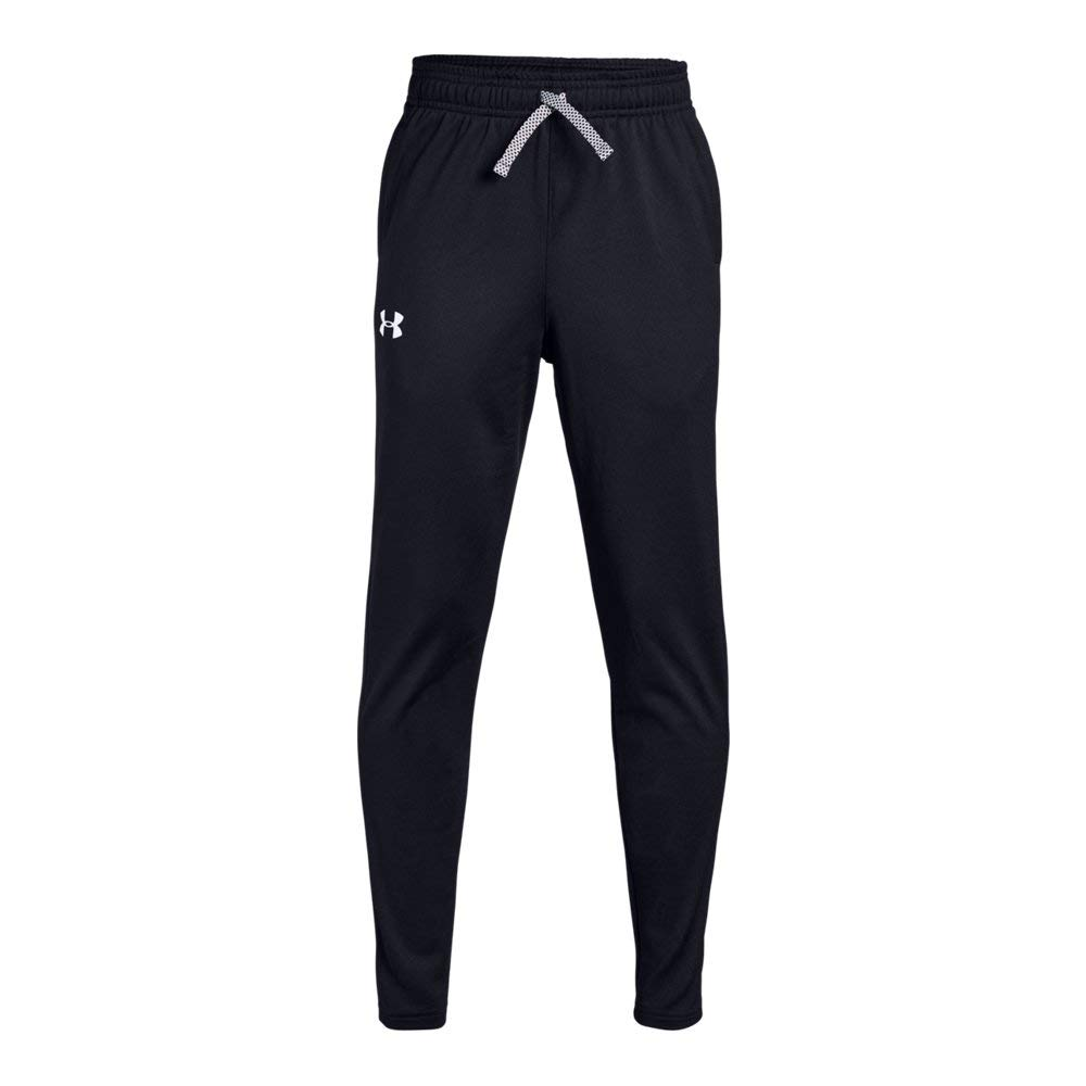 Under Armour Brawler Tapered Pants, Black/White, Youth Medium by Under Armour