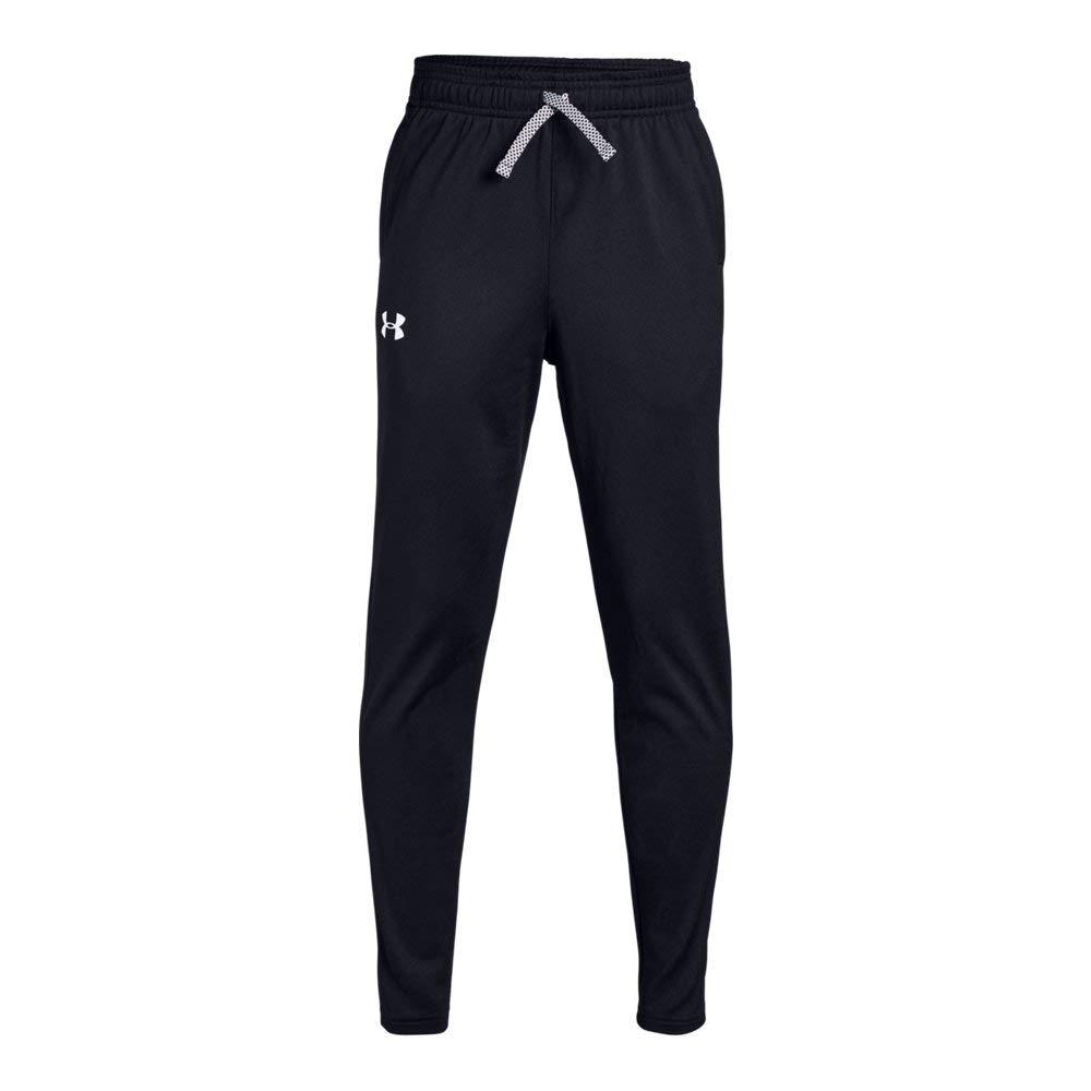 Under Armour Brawler Tapered Pants, Black/White, Youth Medium