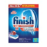 Finish All-In-One Dishwasher Detergent Powerball Tabs 105