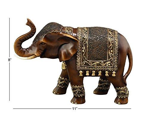 Deco 79 Polystone Elephant, 11 by 8-Inch by Deco 79 (Image #4)