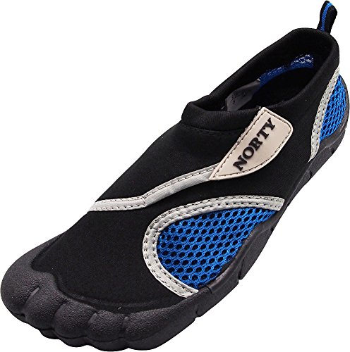 NORTY Young Mens Skeletoe Aqua Water Shoe, Black, Blue 40310-6D(M) US from NORTY