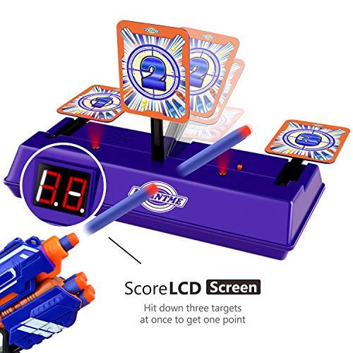 UWANTME Electric Scoring Auto Reset Shooting Digital Target for Nerf Guns Blaster