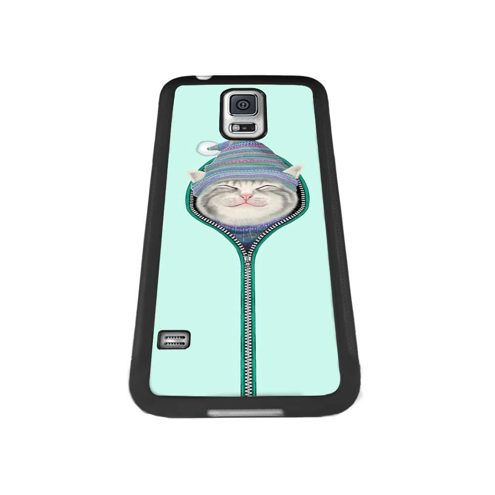 Hedgehog Flower Shock-Absorption TPU Rubber Bumper Samsung Galaxy S5 Case Ultra Thin Slim Protective Cover Samsung Galaxy S5-Black Samsung Galaxy S5 Case