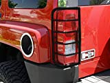 hummer h3 custom - MaxMate Premium Custom Fit 06-10 Hummer H3 2pcs Black Taillight Covers Tail Light Guards (Mounting hardware & instruction included)