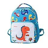 DDLBiz Child Baby Girls Boys Kids Cartoon Dinosaur Animal Backpack Toddler School Bag (Sky Bule, L)