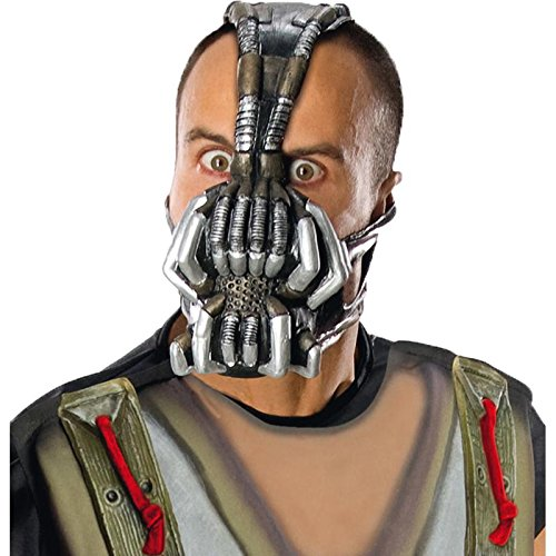 Batman Dark Knight Rises Bane Mask (Rubie's Men's Batman Dark Knight Rises, 3/4 Bane mask, Multicolor, One)