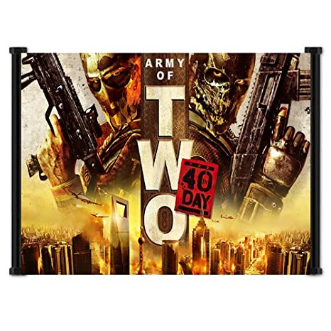 Army of Two The Devils Cartel Video Game Fabric Wall Scroll ...
