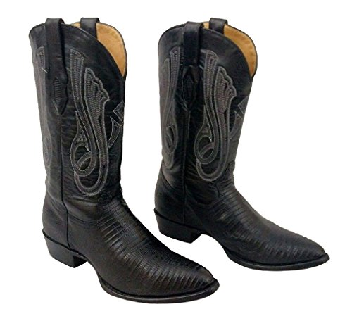 - CORRAL Men's Black Teju Lizard Round Toe Cowboy Boots C1560 (13 EE(W) US)