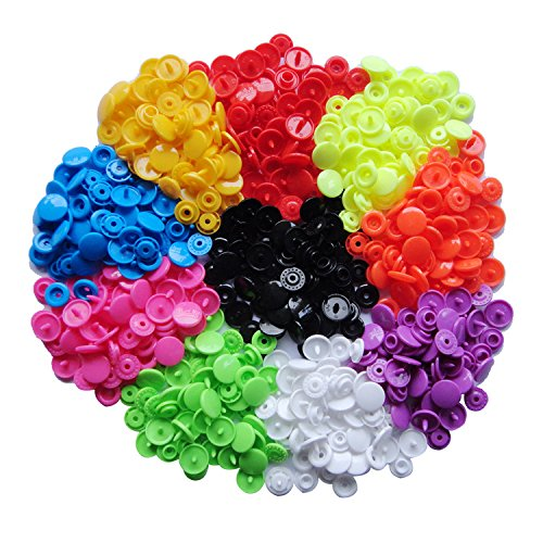150 Complete Sets Snap Kits Plastic Resin Snap Fastener Buttons KAM T5 Size 20 (1/2