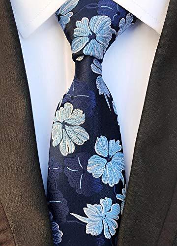 Tie Mens Silk Tie 8cm Fashion Floral Ties Plaid Necktie Striped Ties Blue Yellow Green For Men Business Wedding Accessories