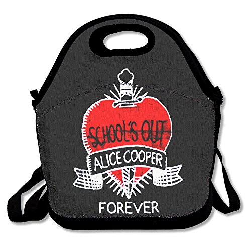 Funny Designer Bag School's Out Alice Cooper Forever Lunch Tote.