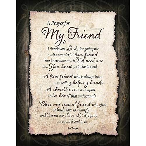 Friend Prayer Wood Plaque with Inspiring Quotes 11.75