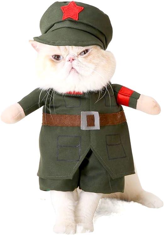 Smalllee_lucky_store - Disfraz de soldado para perros pequeños ...