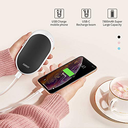 Jomst Hand Warmers 7800 mAh,Rechargeable Hand Warmer and High Capacity Power Bank,Best Gifts for Christmas,Winter ...