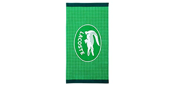 Lacoste Net Green toalla de playa/Beach Towel 180 x 90 cm: Amazon.es: Hogar